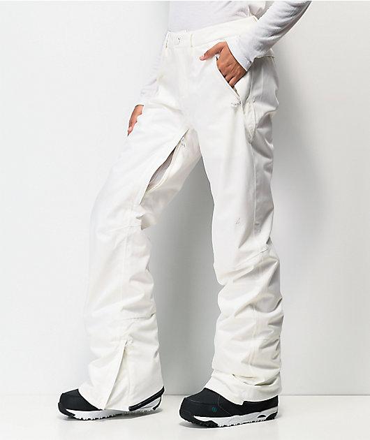 Burton Society Stout 10K pantalones de snowboard blancos