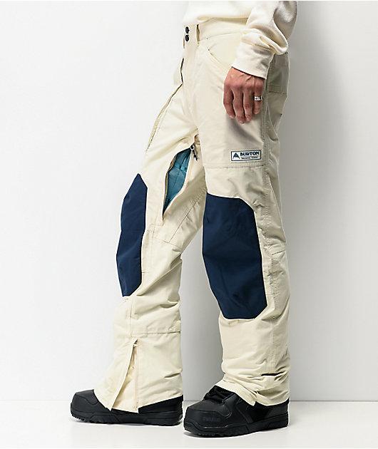 Burton Southside Almond Milk & Blue 10K Snowboard Pants