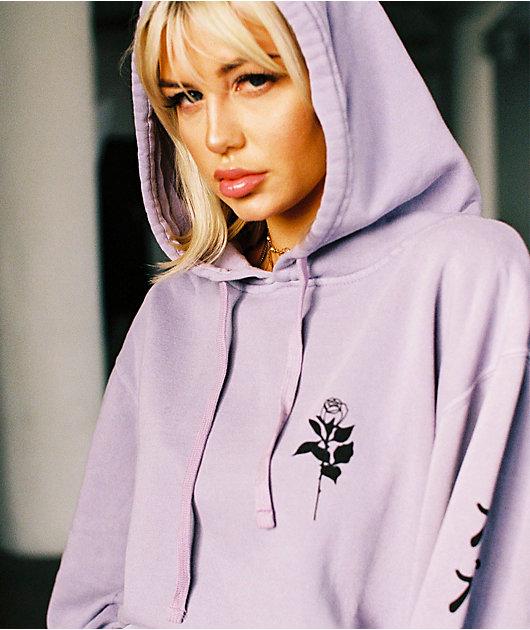 By Sami Ryan Kanji Lust Lavender Hoodie
