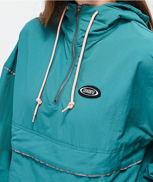 By Samii Ryan Bad Habits Turquoise Anorak Jacket