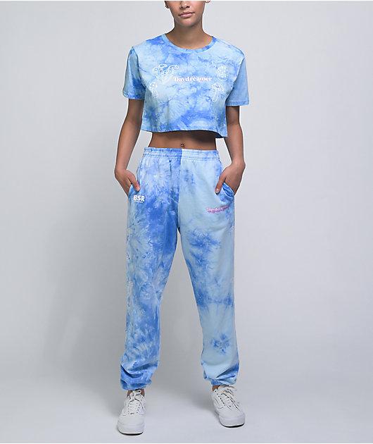 By Samii Ryan Day Dreamer Blue Tie Dye Sweatpants