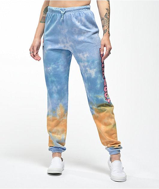 By Samii Ryan Feelin Good Blue & Orange Tie Dye Sweatpants