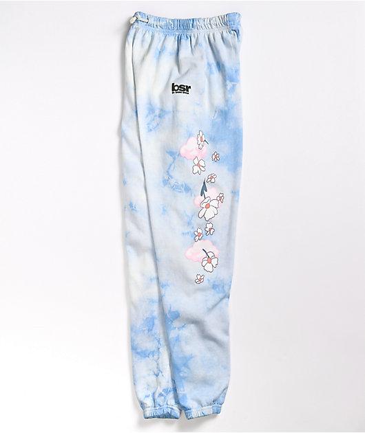 By Samii Ryan Felt Cute Blue Tie Dye Sweatpants