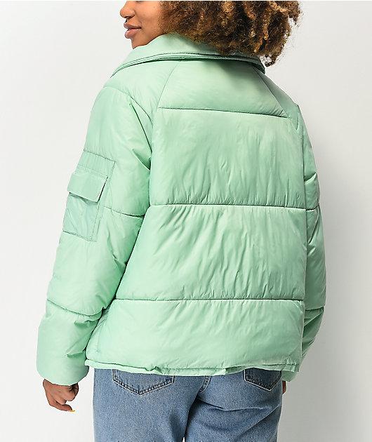 By Samii Ryan Finesse Mint Green Puffer Jacket