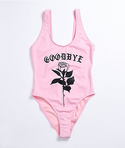 By Samii Ryan Goodbye Rose Pink One Piece Swimsuit