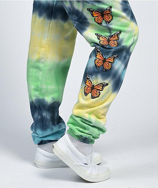 By Samii Ryan Growth Blue & Green Tie Dye Jogger Sweatpants
