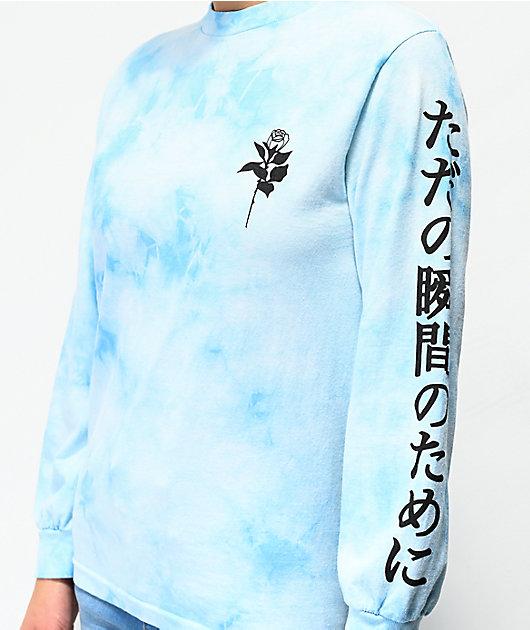 By Samii Ryan Lust camiseta tie dye de manga larga azul