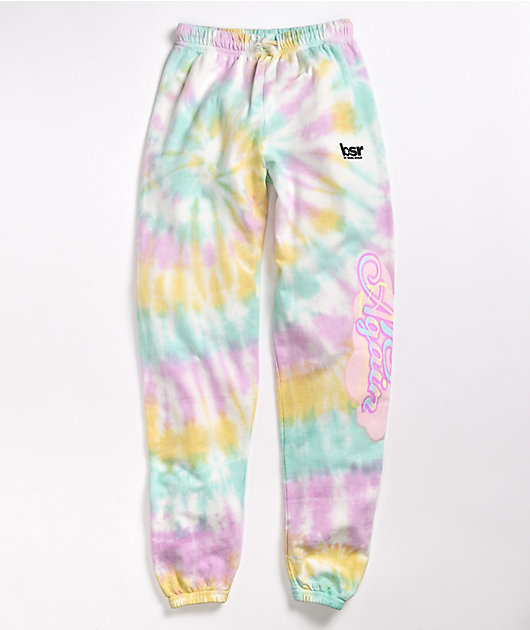 By Samii Ryan Try Again Pastel Tie Dye Sweatpants