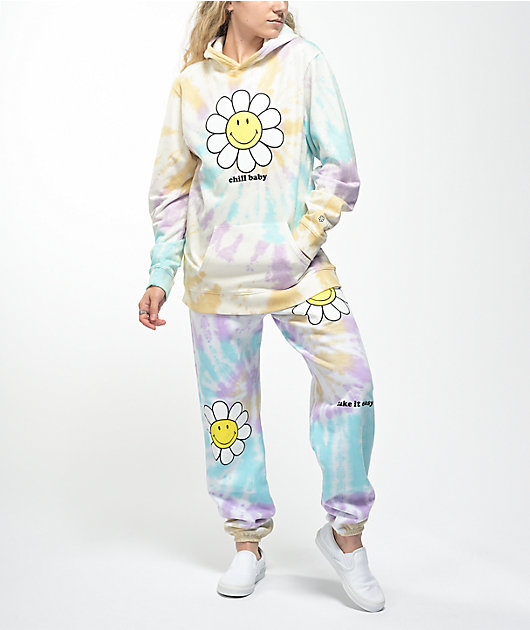 By Samii Ryan x Smiley Chill Baby Multicolor Tie Dye Hoodie
