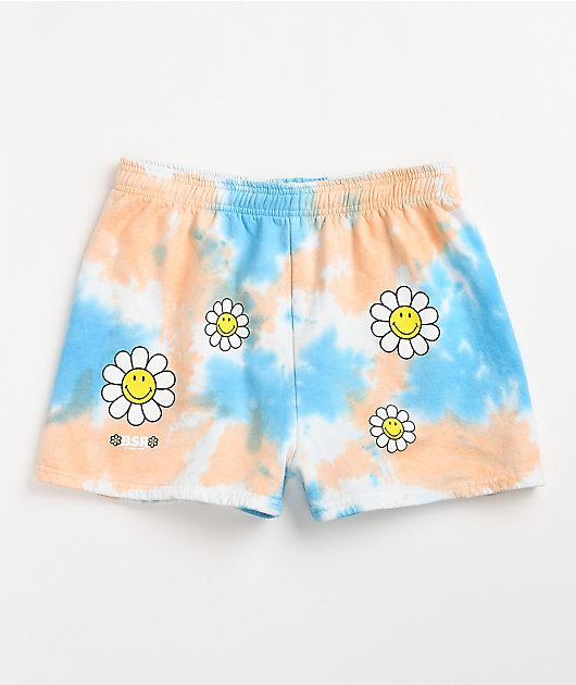 By Samii Ryan x Smiley One Of Those Days Tie Dye Sweat Shorts