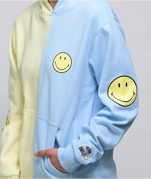 By Samii Ryan x Smiley Smile 4 Me Split Blue & Yellow Hoodie