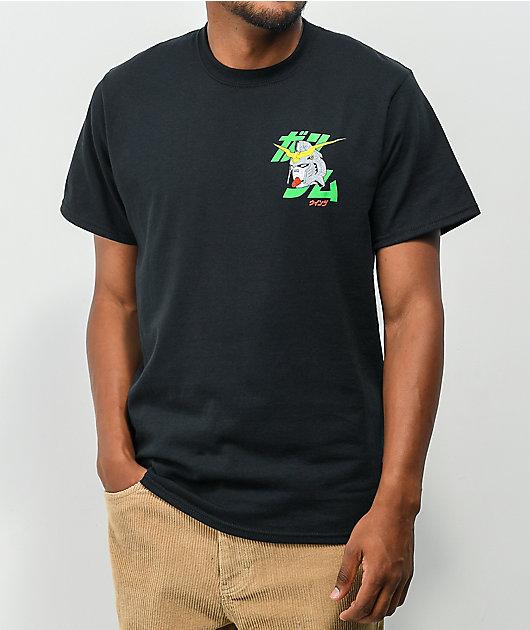 CR Loves by Crunchyroll x Gundam Deathscythe Black T-Shirt