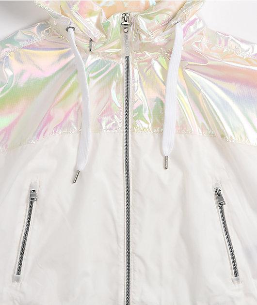 Calvin Klein Dolman Iridescent Silver Jacket