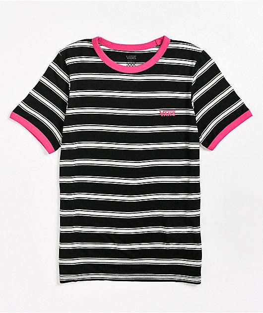 Camiseta rayada blanco y negro Lee Sun de Vans