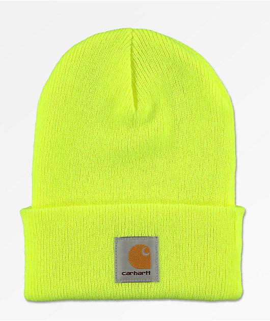 Carhartt Watch Bright Lime Cuff Beanie