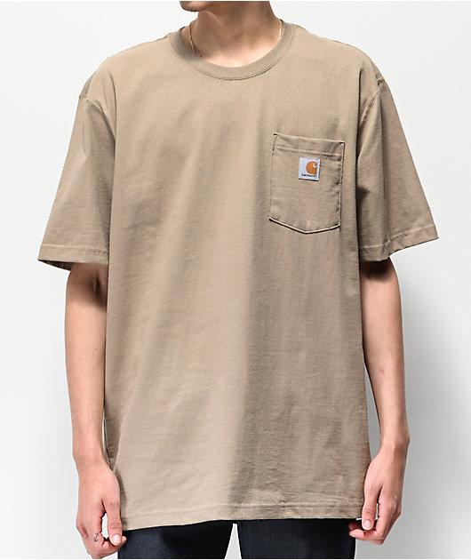 Carhartt Workwear camiseta marrón con bolsillo