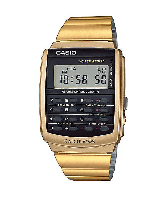 Casio CA506G-9AVT Databank Gold Calculator Watch