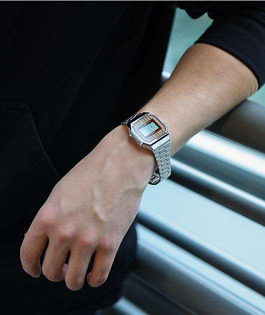 Casio Vintage A168WEF-5AVT Silver Digital Watch