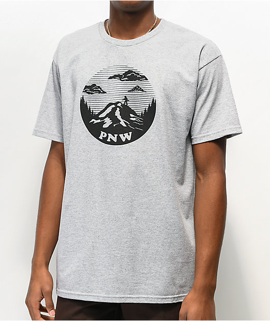 Casual Industrees Squatch Mountain Heather Grey T-Shirt