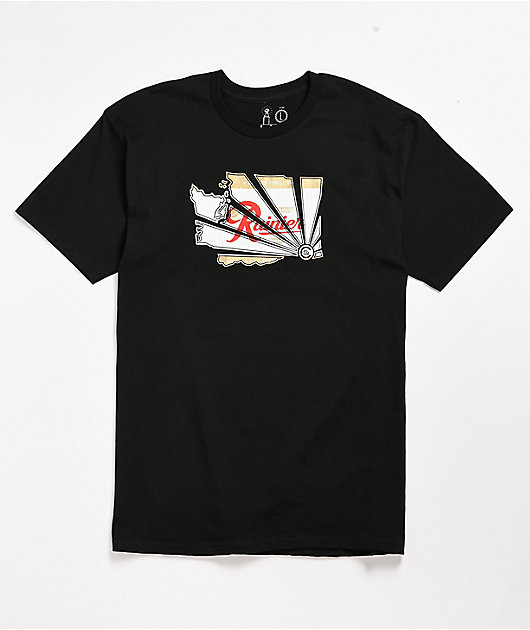 Casual Industrees x Rainier Beer Brah Black T-Shirt