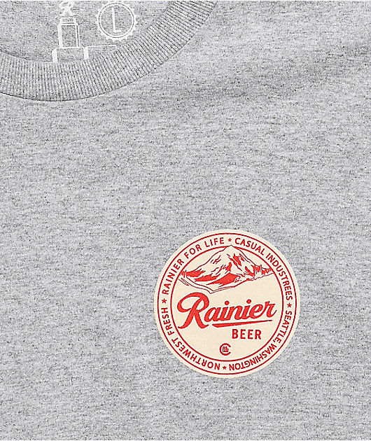 Casual Industrees x Rainier Beer For Life Grey T-Shirt