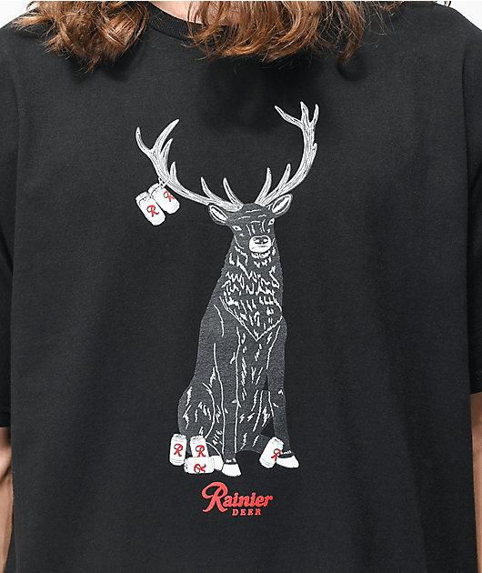 Casual Industrees x Rainier Deer Black T-Shirt