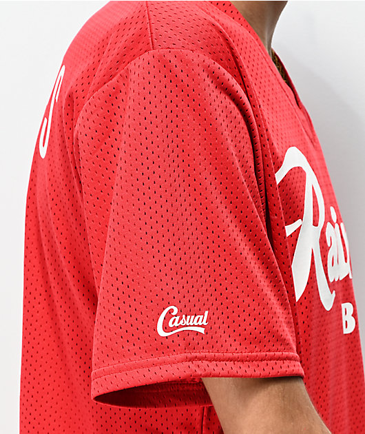 Casual Industrees x Rainier Red Mesh Baseball Jersey