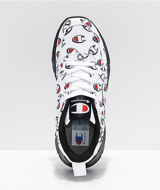 Champion 93 Eighteen Repeat C White & Black Shoes