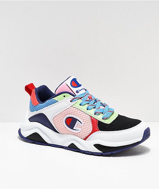Champion 93 Eighteen SP Block White & Multicolor Shoes