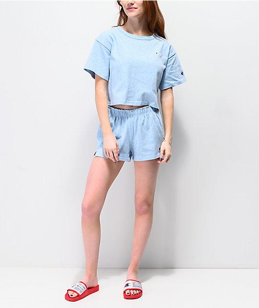 Champion Active Blue Crop T-Shirt
