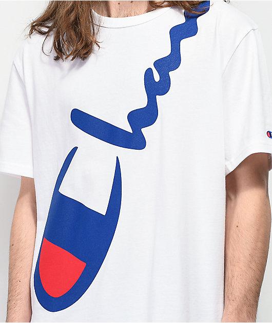 Champion Big Script camiseta blanca