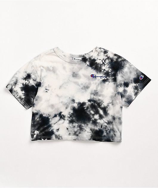 Champion Big Sky Black & White Crop T-Shirt