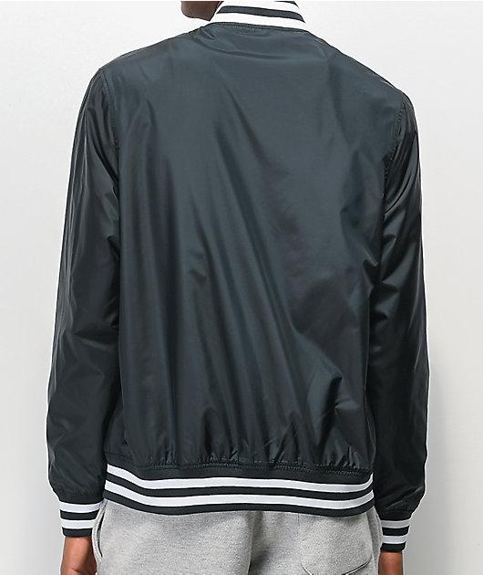 Champion Black & White Satin Baseball Jacket