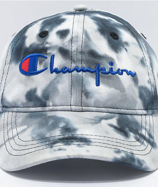 Champion Black & White Tie-Dye Dad Hat