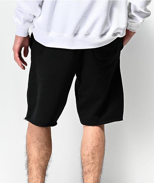 Champion Black Cut Off Sweat Shorts