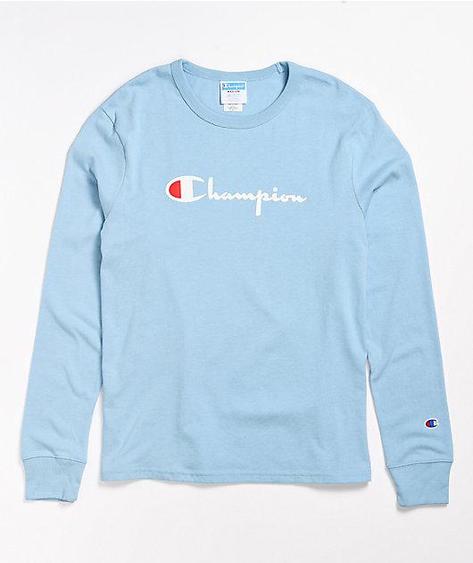 Champion Boyfriend Candid Blue Long Sleeve T-Shirt