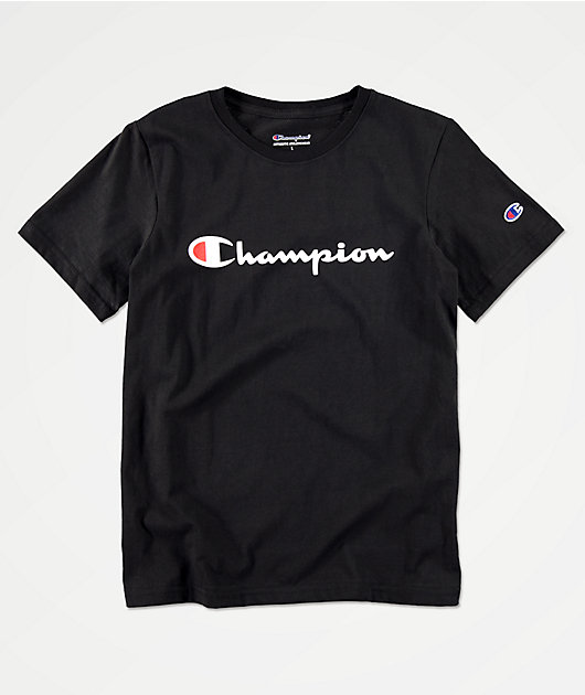 Champion Boys Heritage Black T-Shirt
