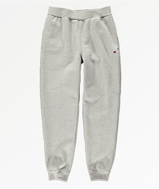 Champion Boys Small C Oxford Grey Jogger Sweatpants