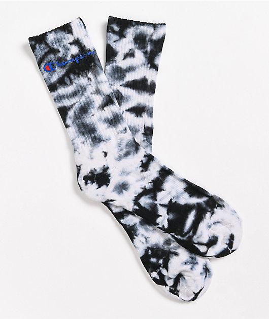 Champion C-Life Black & White Tie-Dye Socks
