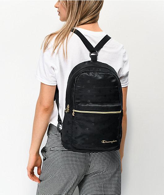 Champion Cadet Repeat Black Crossover Mini Backpack