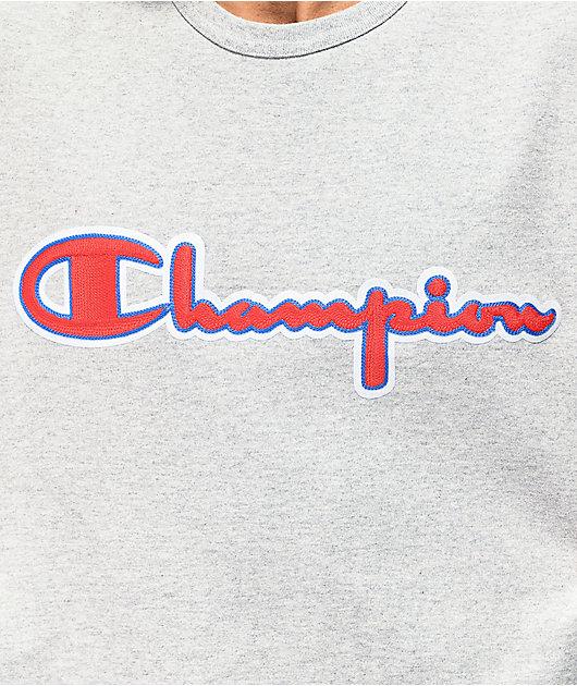 Champion Chain Stitch Grey T-Shirt