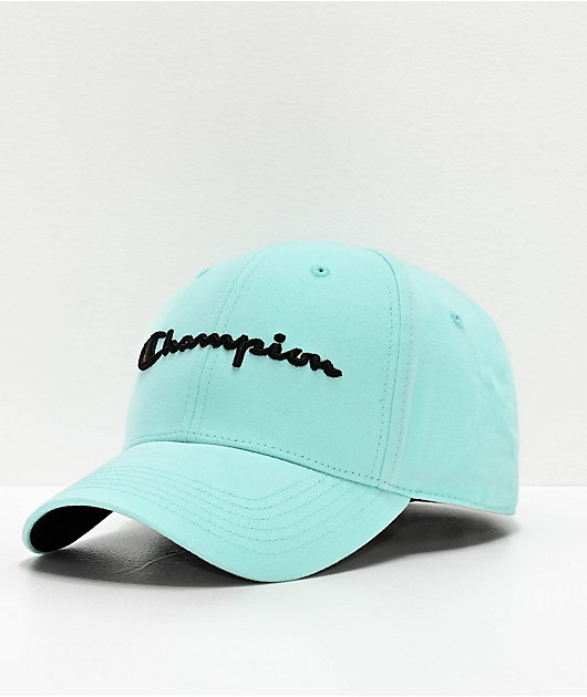 Champion Classic Twill Waterfall Green Strapback Hat