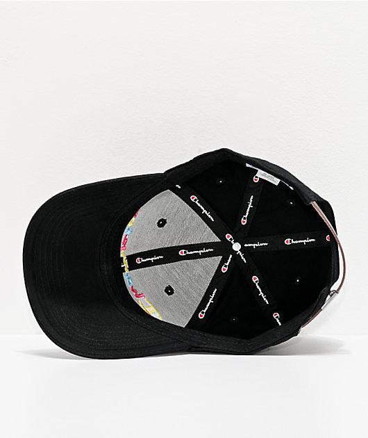 Champion Classic gorra de sarga negra y multicolor