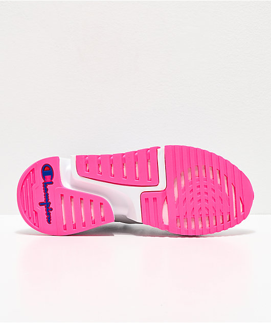 Champion D1 Pink & White Shoes