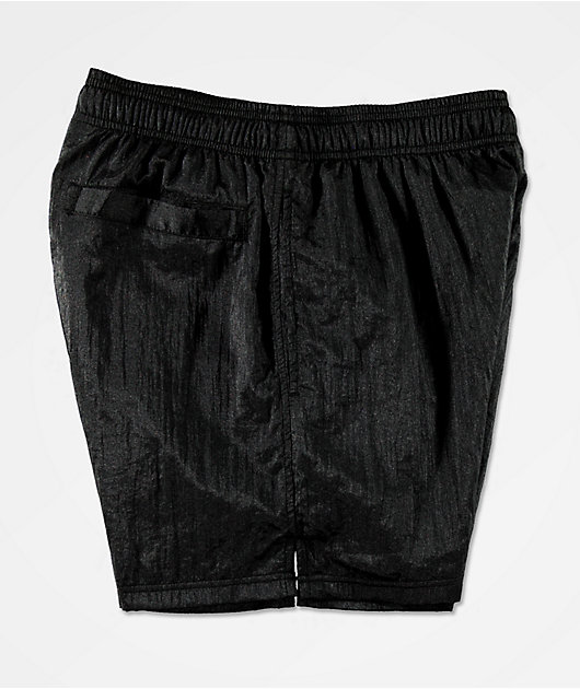 Champion Emblem Black Nylon Shorts