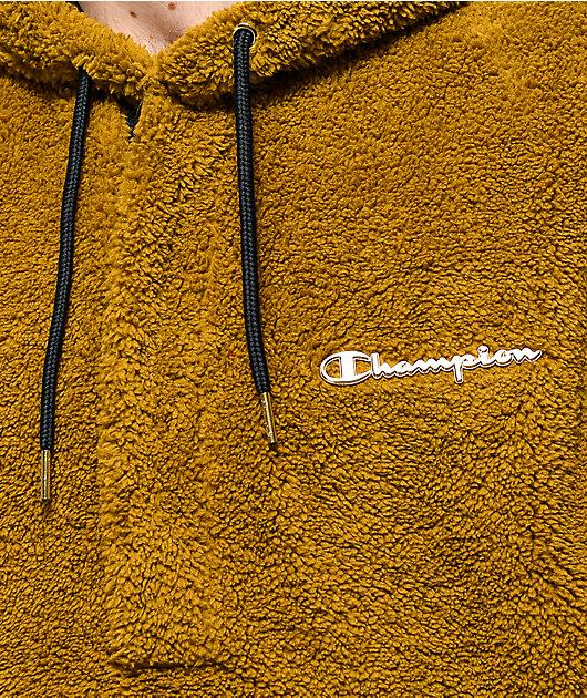 Champion Faux Fur Gold Hoodie