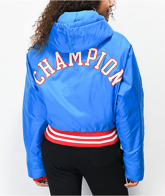 Champion Filled Fashion Blue Crop Jacket