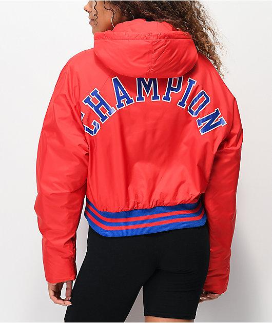 Champion Filled Fashion Red Crop Jacket