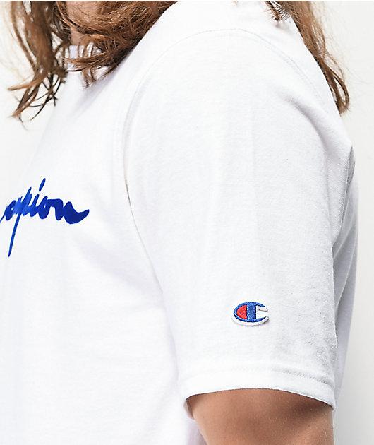 Champion Flock Script camiseta blanca