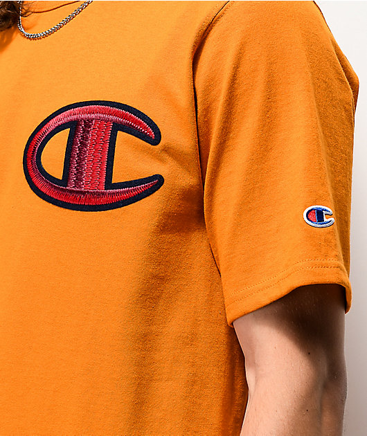 Champion Floss Stitch C camiseta dorada